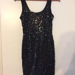 As U Wish formal/cocktail dress sequined  SMALL